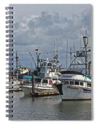 The Fishing Boats At Westport Spiral Notebook