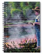 The Fishing Boy Spiral Notebook