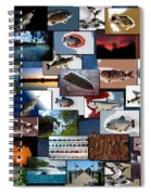 The Fishing Hole Collage Rectangle Spiral Notebook