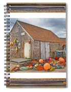 The Fishing Village Scene Spiral Notebook