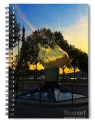 The Flame Of Liberty In Paris Spiral Notebook