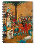The Flight Out Of Egypt Spiral Notebook