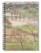 The Flood At Eragny Spiral Notebook
