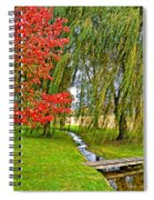 The Flow Of Autumn Spiral Notebook