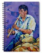 The Flute Player Spiral Notebook
