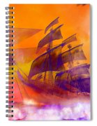The Flying Dutchman Ghost Ship Spiral Notebook