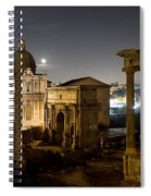 The Forum Temples At Night Spiral Notebook
