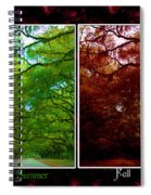 The Four Seasons- Featured In Comfortable Art And Newbies Groups Spiral Notebook