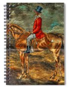 The Fox Hunt With Light Antique Store Mural Griffin Georgia Art Spiral Notebook