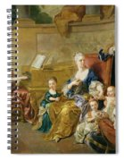 The Franqueville Family, 1711 Oil On Canvas Spiral Notebook