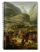 The French Army Travelling Over The St. Bernard Pass At Bourg St. Pierre, 20th May 1800, 1806 Oil Spiral Notebook