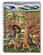 The French Help The Indians In Battle Spiral Notebook
