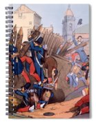 The French Legion Storming A Carlist Spiral Notebook