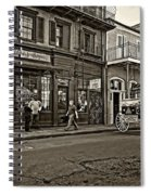 The French Quarter Sepia Spiral Notebook