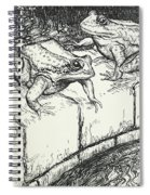 The Frogs And The Well Spiral Notebook