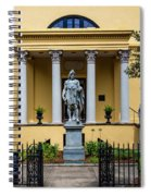 The Front Of The Telfair Museum Of Art Spiral Notebook