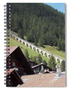 The Funicular In Murren Spiral Notebook