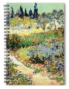 The Garden At Arles, 1888 Spiral Notebook