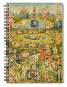 The Garden Of Earthly Delights Allegory Of Luxury, Central Panel Of Triptych, C.1500 Oil On Panel Spiral Notebook