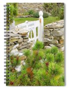 The Gate By The Sea Spiral Notebook