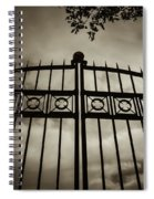 The Gate In Sepia Spiral Notebook