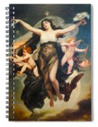 The Genie Of Study And Love Spiral Notebook