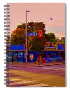 The Georgetown Sports Pub Soccer Bar Bank St The Glebe Paintings Of Ottawa Carole Spandau Artist Spiral Notebook