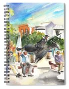The Ghost Of Don Quijote In Alcazar De San Juan Spiral Notebook