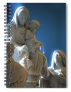 The Gift Of The Rosaries Statue Spiral Notebook