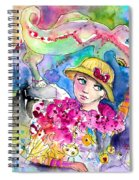 The Girl And The Lizard Spiral Notebook