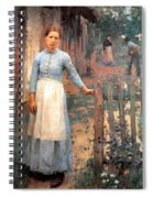 The Girl At The Gate Spiral Notebook