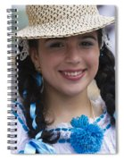 The Girl With The Panama Hat Spiral Notebook