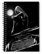 The Girl On The Roof Spiral Notebook