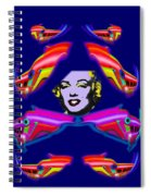 The Girl With The Dragon Moustache Spiral Notebook