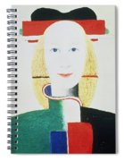 The Girl With The Hat Spiral Notebook