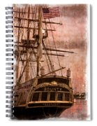 The Gleaming Hull Of The Hms Bounty Spiral Notebook