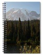 The Glow Of Mount Rainier Spiral Notebook