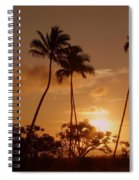 The Glow Of Sunset Spiral Notebook