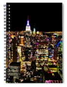 The Glow Of The New York City Skyline Spiral Notebook