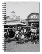The Goat Carriages Coney Island 1900 Spiral Notebook