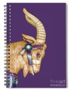 The Goat Who Likes Purple Spiral Notebook