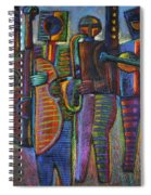 The Gods Of Music Come To New York Spiral Notebook