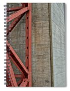 The Golden Gate - Fort Point View Spiral Notebook