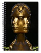The Golden Girl At Caesar's Palace Spiral Notebook