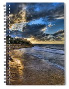 the golden hour during sunset at Israel Spiral Notebook