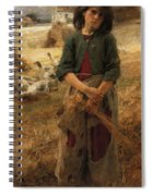 The Goose Girl Of Mezy Spiral Notebook