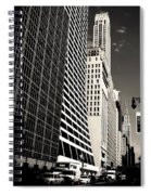 The Grace Building And The Chrysler Building - New York City Spiral Notebook