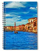 The Grand Canal Impasto Spiral Notebook