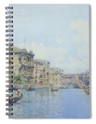 The Grand Canal With A View Of Palace Spiral Notebook