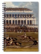 The Grand Stand At Epsom Races, Print Spiral Notebook